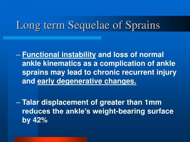 Long term Sequelae of Sprains