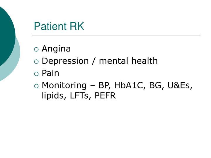 Patient RK