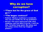 why do we have corruption2