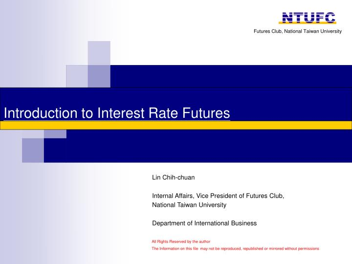 introduction to interest rate futures n.
