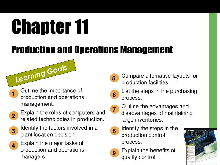 PPT - Chapter 11 Production and Operations Management PowerPoint