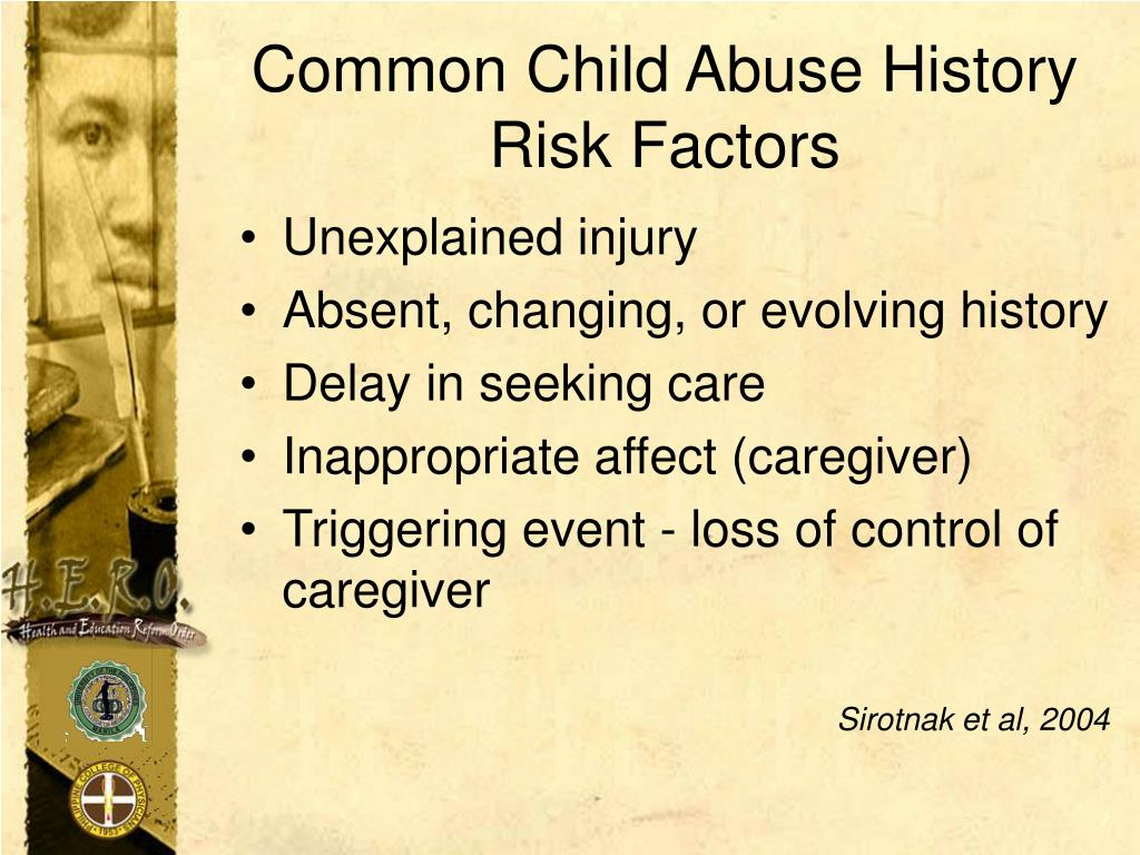 Common Child Abuse History