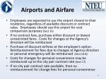 airports and airfare