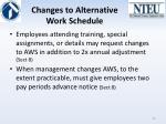 changes to alternative work schedule