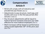 compensation article 9