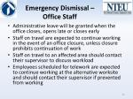 emergency dismissal office staff