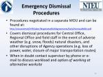 emergency dismissal procedures