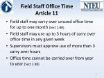 field staff office time article 11