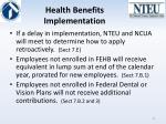 health benefits implementation