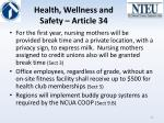 health wellness and safety article 34