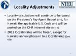 locality adjustments