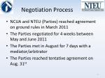 negotiation process
