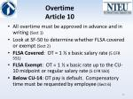 overtime article 10