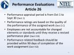 performance evaluations article 26
