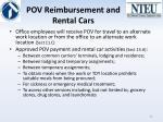 pov reimbursement and rental cars
