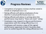 progress reviews