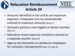 relocation reimbursement article 24