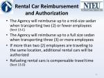 rental car reimbursement and authorization