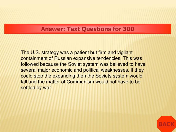 Answer: Text Questions for 300