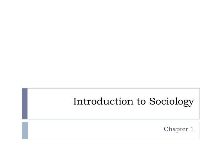 introduction to sociology n.