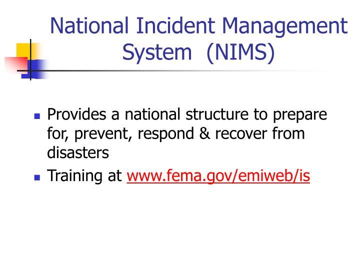 National Incident Management