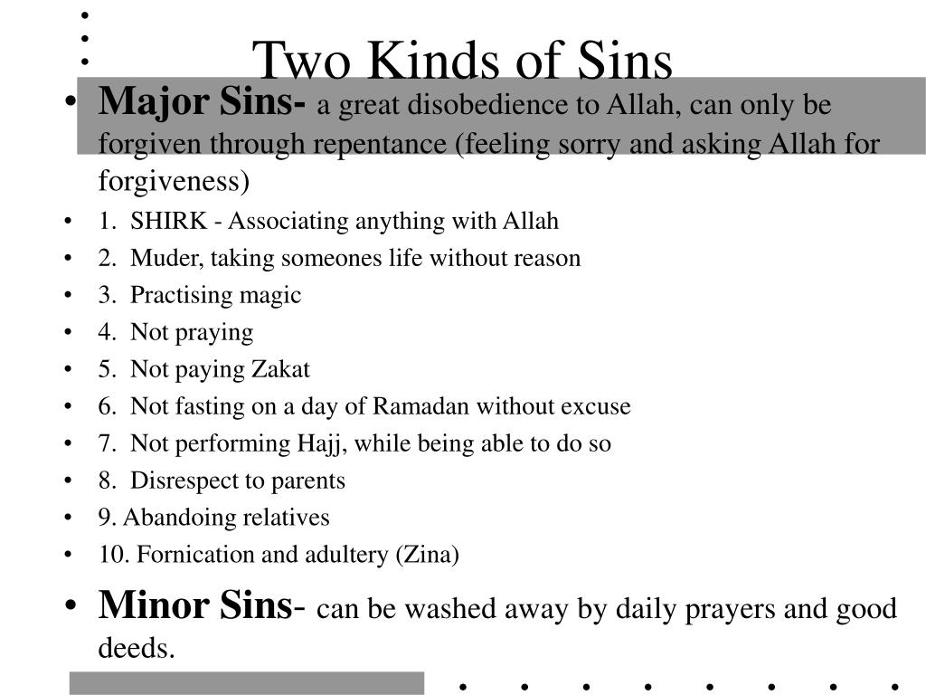 Two Kinds of Sins