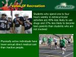 value of recreation