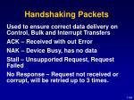 handshaking packets