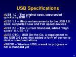 usb specifications