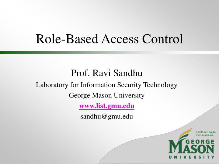role based access control n.