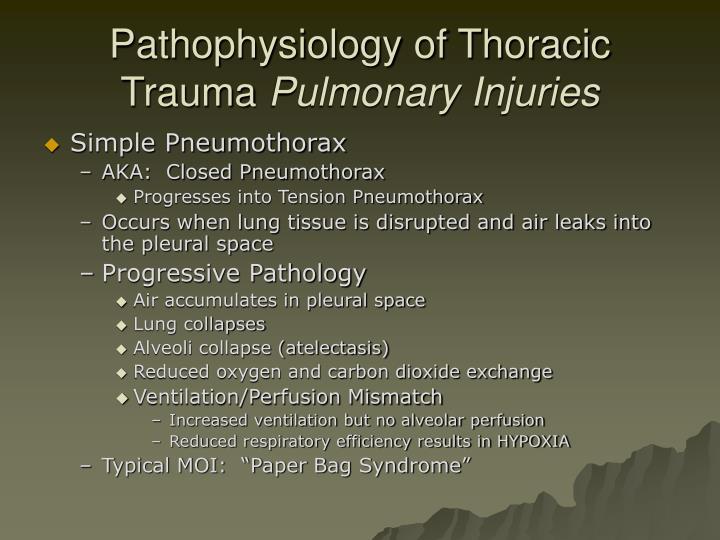 Pathophysiology of Thoracic Trauma