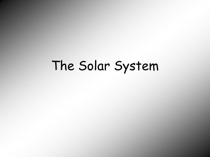 the solar system n.