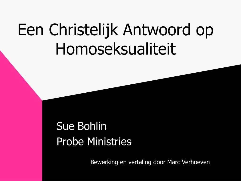 een christelijk antwoord op homoseksualiteit l.