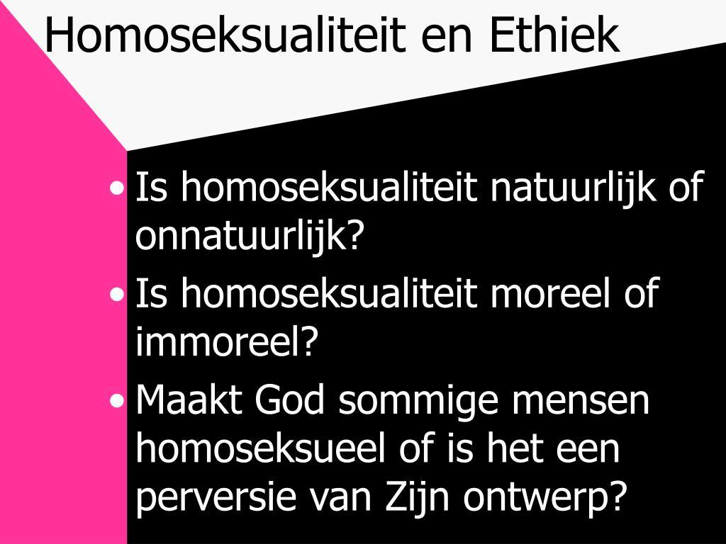 Homoseksualiteit en Ethiek