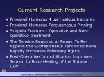 current research projects1