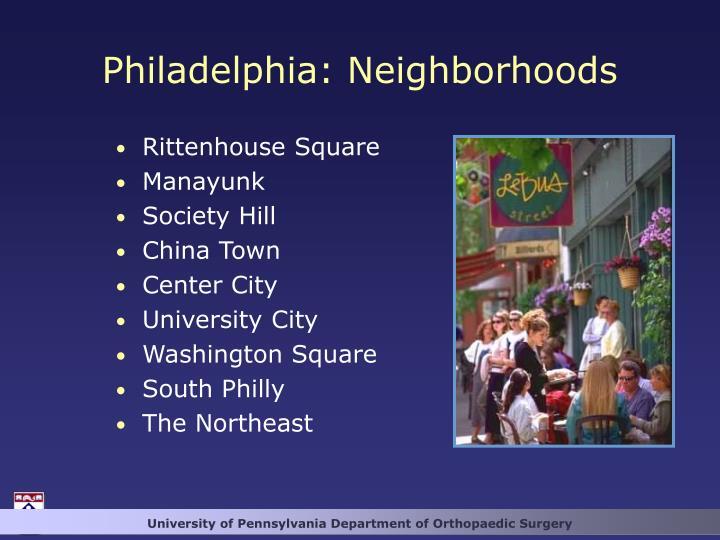 Philadelphia: Neighborhoods
