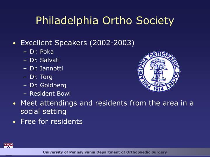 Philadelphia Ortho Society