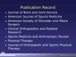 publication record
