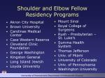 shoulder and elbow fellow residency programs