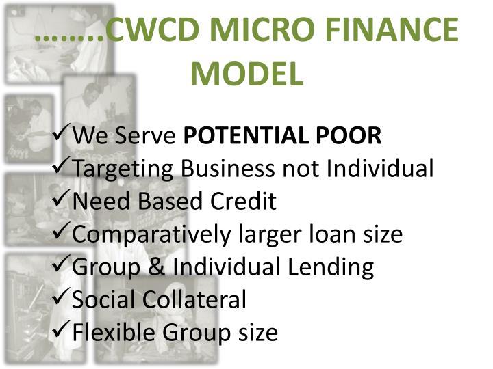 ……..CWCD MICRO FINANCE MODEL