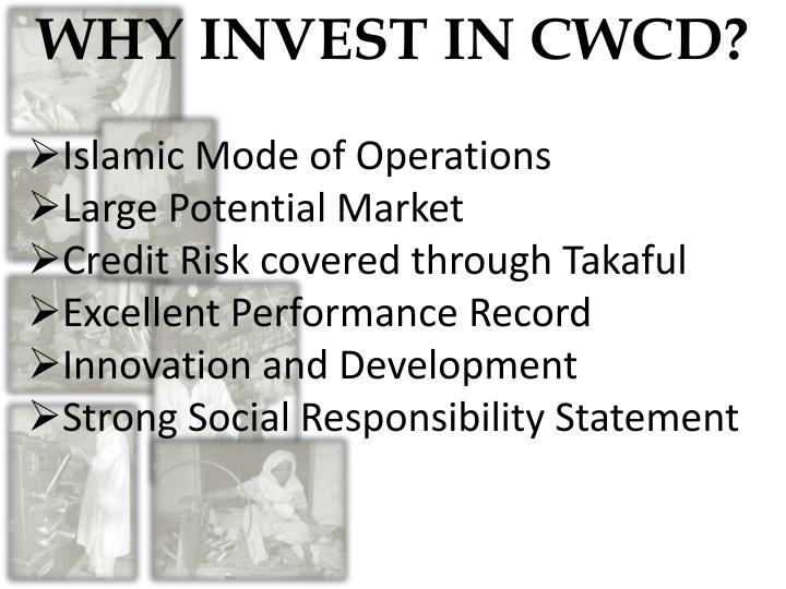 WHY INVEST IN CWCD?