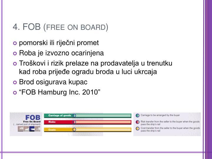 4. FOB (free on board)