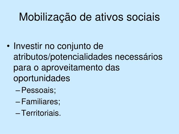 Mobilização de ativos sociais