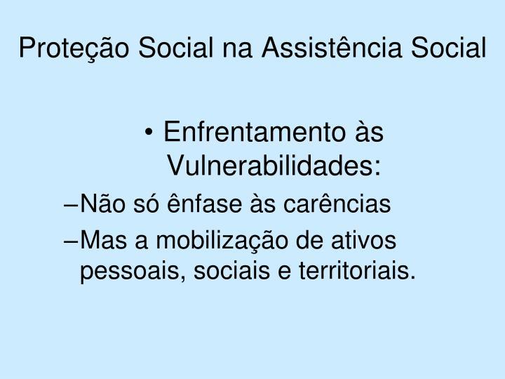 Proteção Social na Assistência Social
