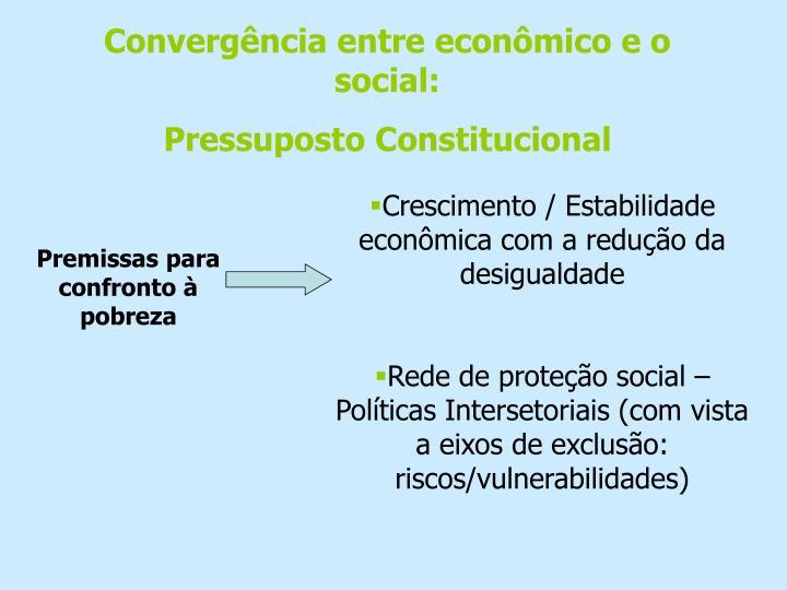 Convergência entre econômico e o social: