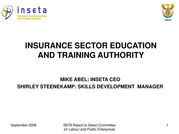 insurance sector education and training authority n.