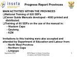progress report provinces