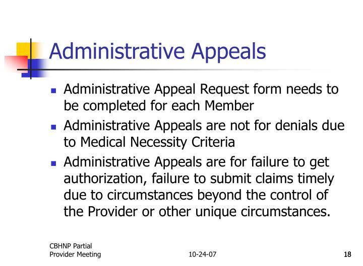 Administrative Appeals