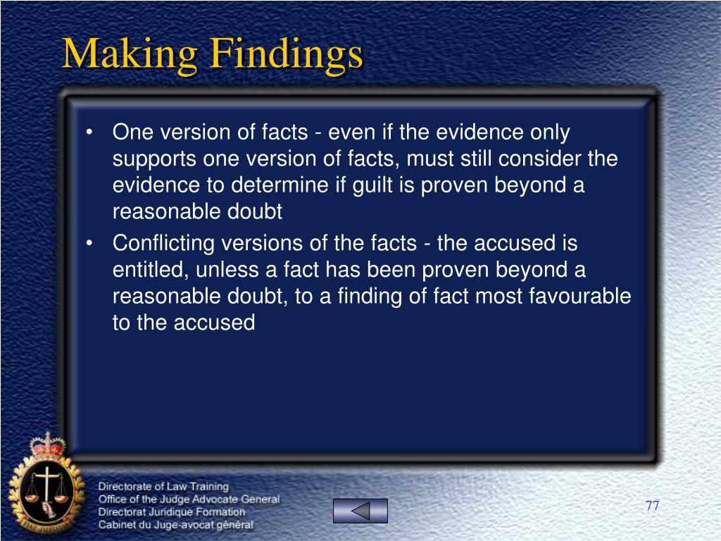Making Findings