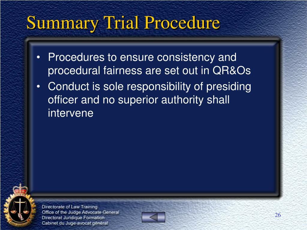 Summary Trial Procedure